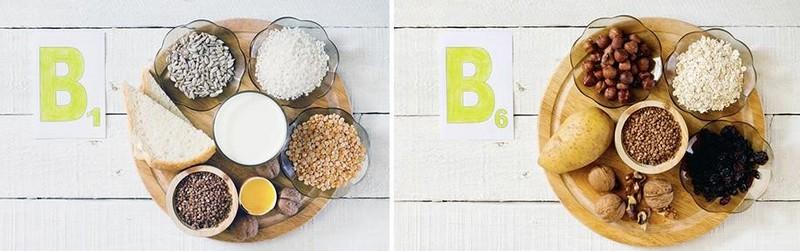 Где содержатся витамины B1, B6